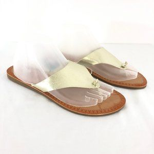 Mad Love Womens Vada Sandals Slides Thong Gold 9